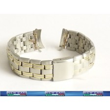 STEEL BRACELET WITH GOLD ELEMENTS COPERNICO 18